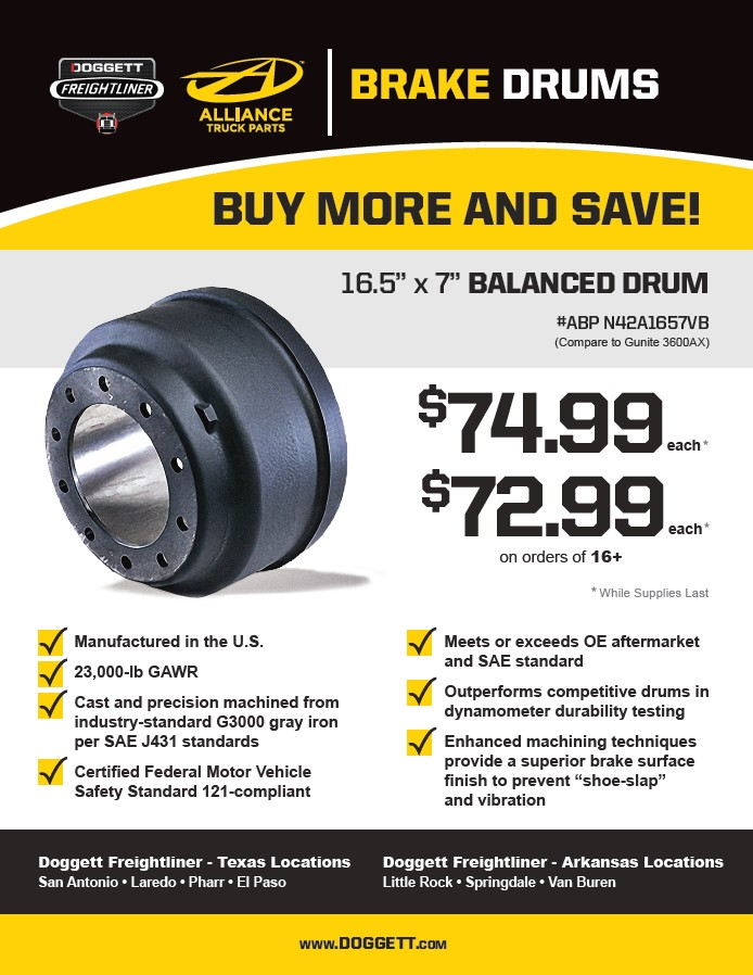 Alliance Brake Drum Sale