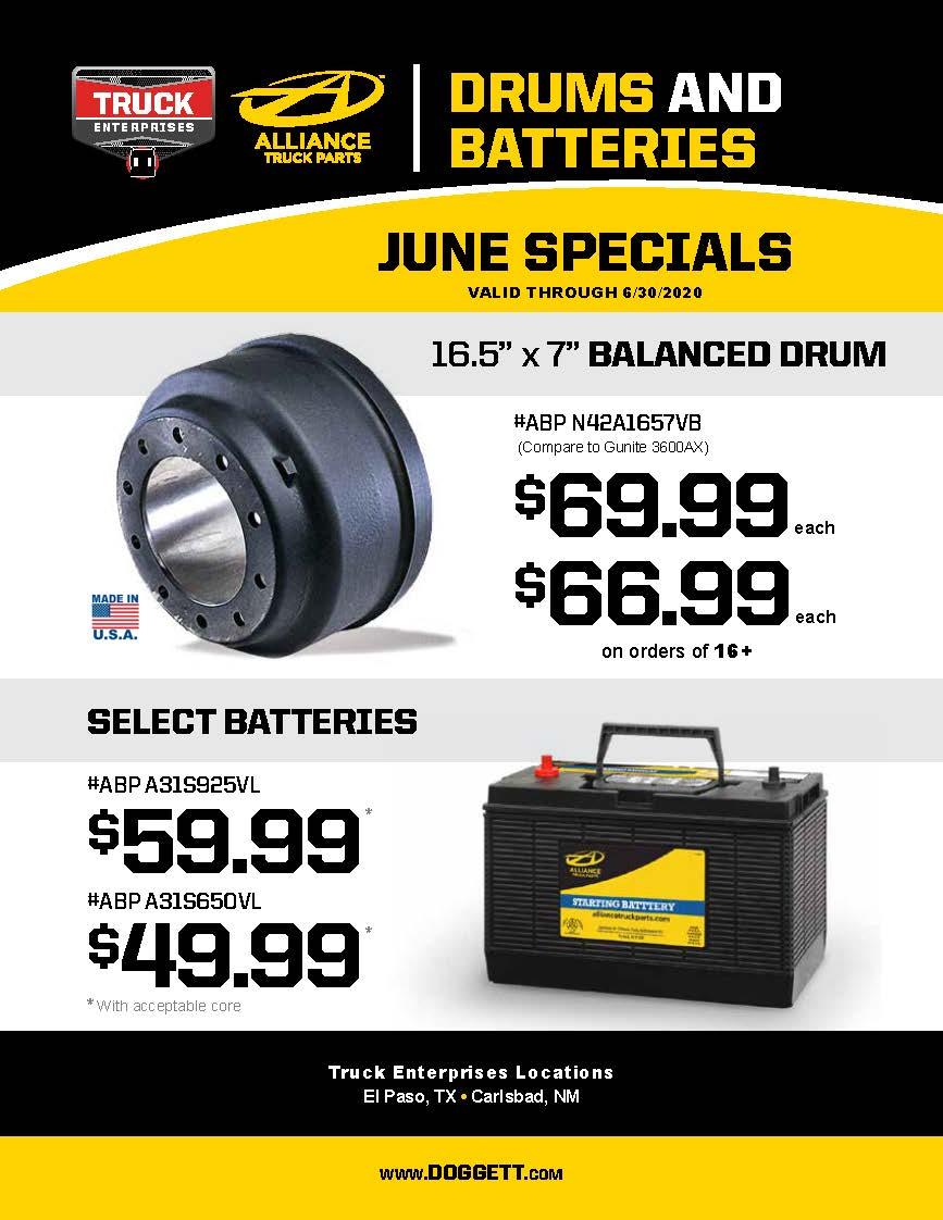 Truck Enterprises June 2020 Parts Specials
