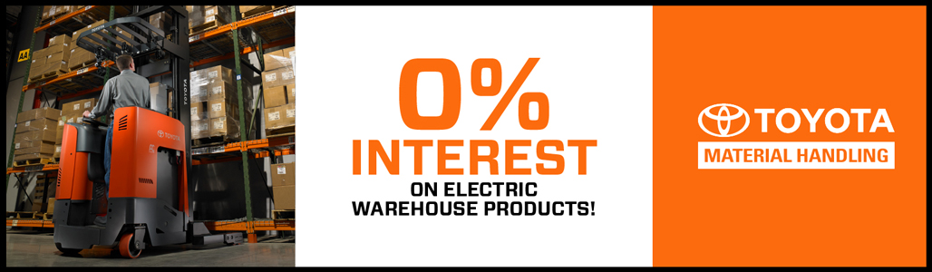 0% Interest on electric warehouse products