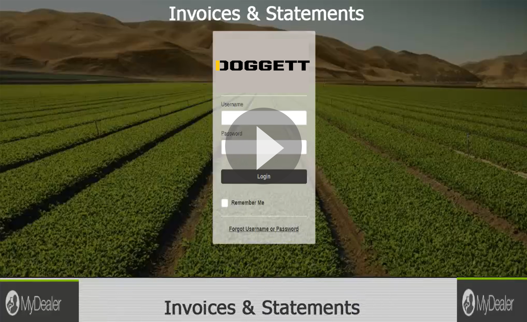 Invoices and Statements on Doggett MyDealer Portal