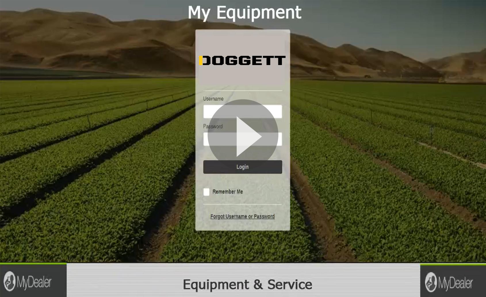 Equipment & Services on Doggett MyDealer Portal