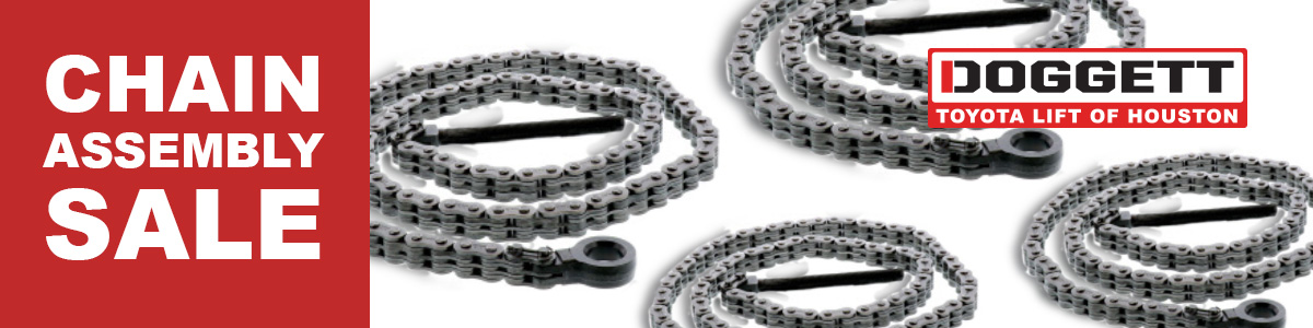 Chain Assembly Sales Event -  March 1 to March 31, 2020.